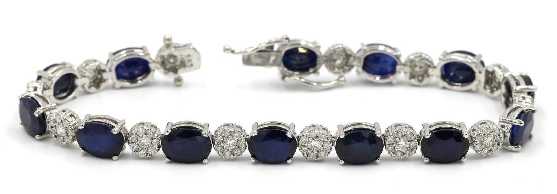 Natural 11.55 Carat Oval Cut Blue Sapphire Diamond
