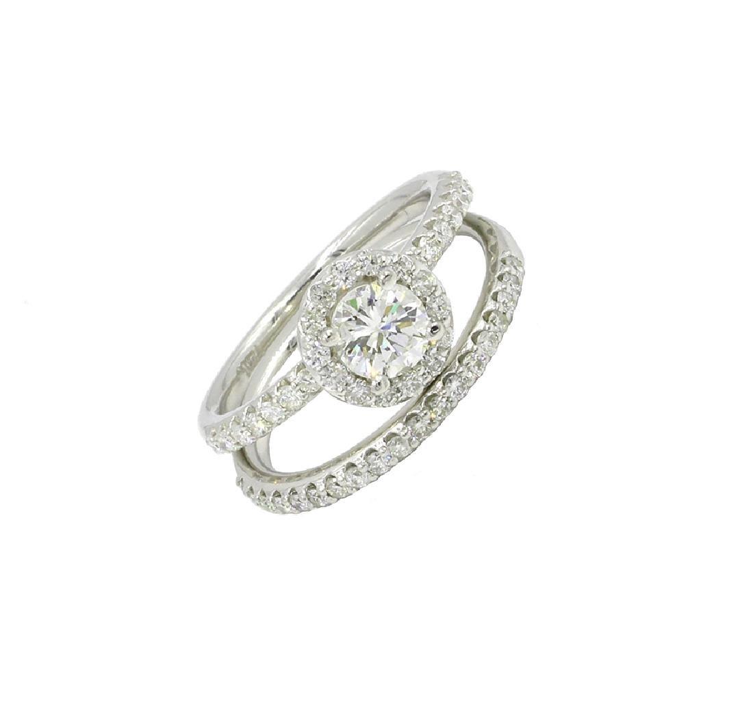 1.22 Ct. Round Cut Diamond Solitaire Engagement Bridal
