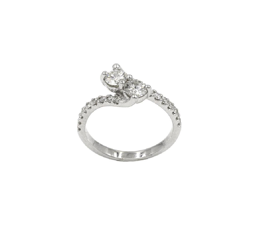 0.89 Carat Round Cut Diamond Engagement Wedding Ring