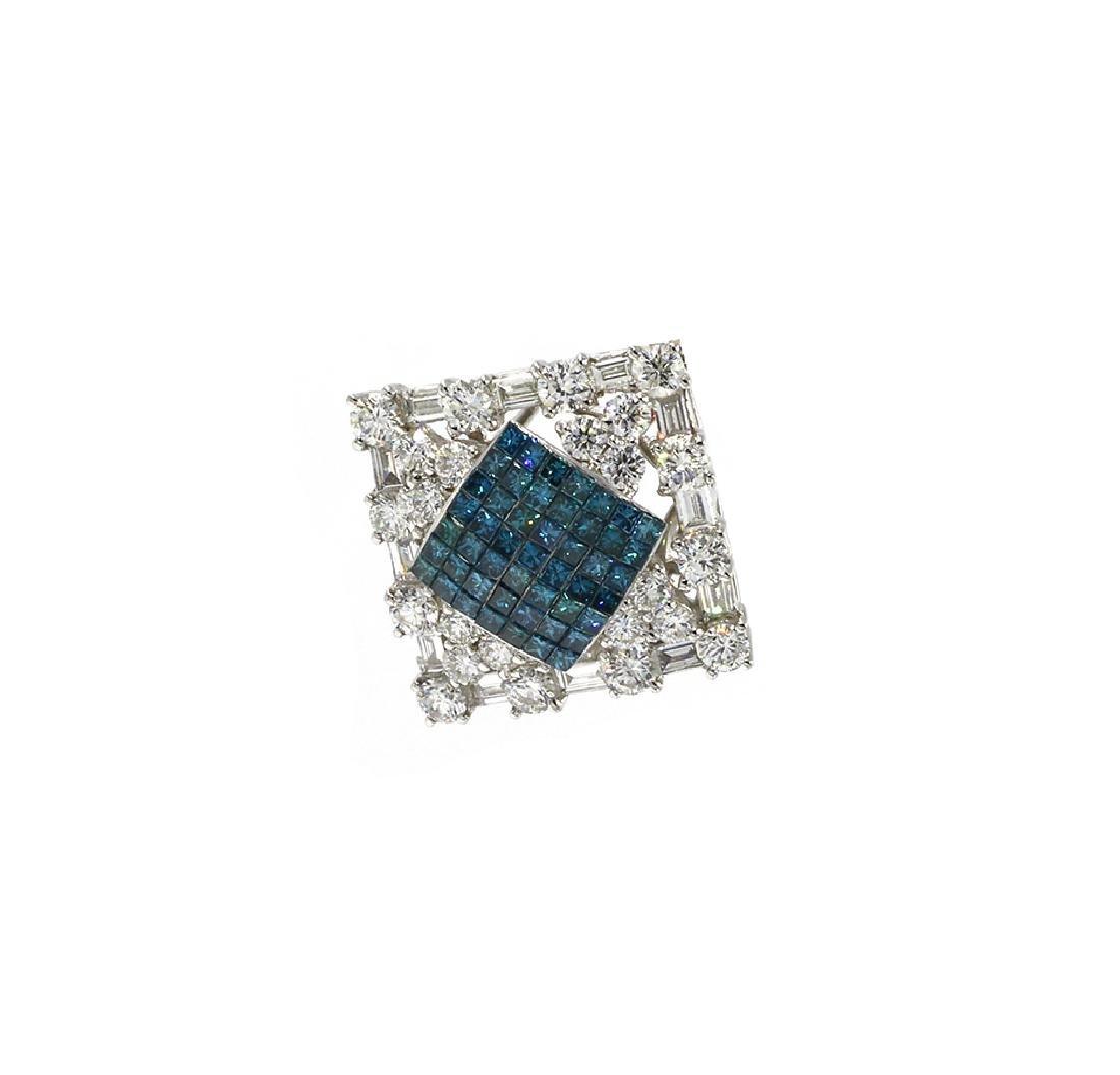 Round, Princess & Baguette Cut Womans Diamond Pendant
