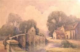 349B: George Downing, 'Bibury Bridge, Gloucestershire',