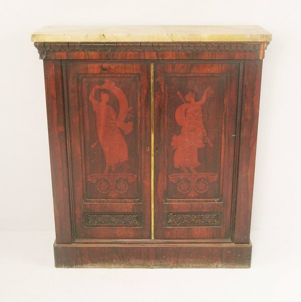 299C: A William IV rosewood side cabinet, circa 1835, t