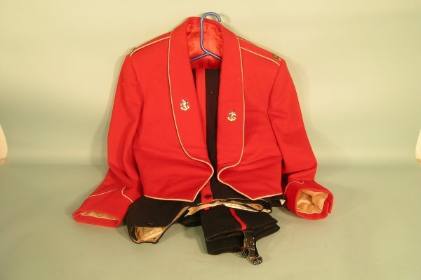 12D: Scarlet Mess Dress jacket with two pairs of trouse