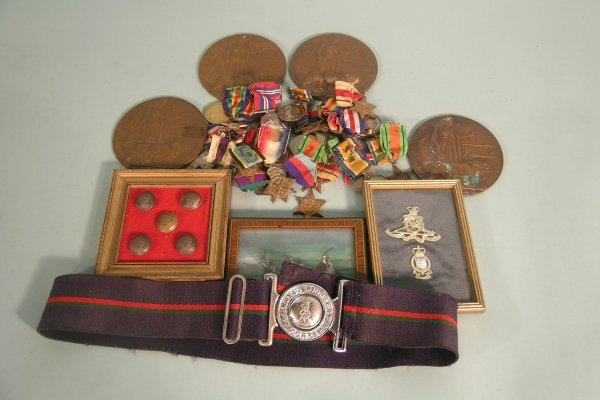 22D: A large collection of assorted militaria, medals,