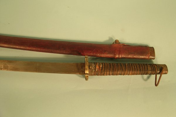 97D: Japanese Katana sword, numbered 46127 on blade, in