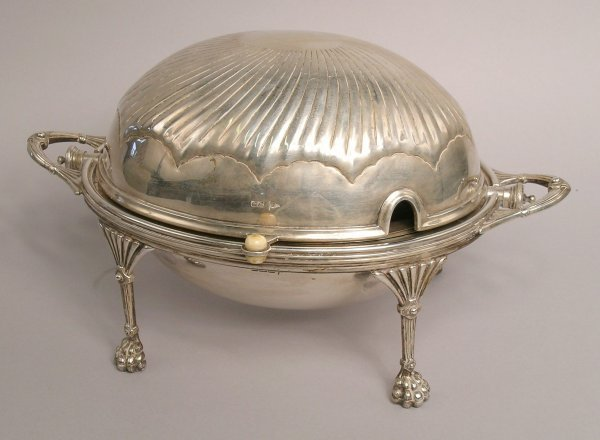 15: A silver breakfast dish and cover, by Walker and Ha