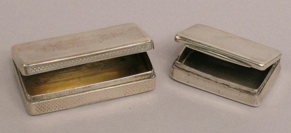 17: A silver vinaigrette box  of rectangular form, mark