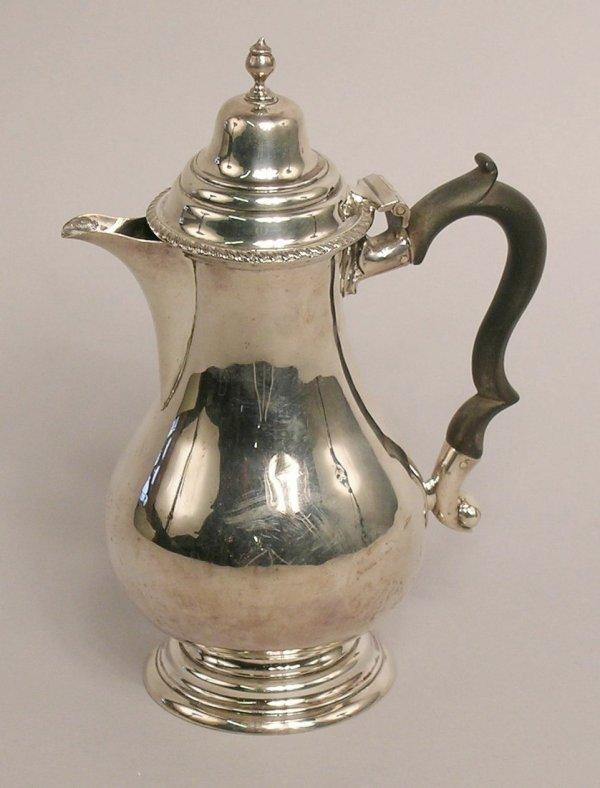23: A silver hot water jug by Thomas Hayes, Birmingham