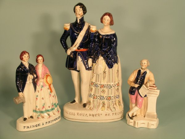 22C: A Staffordshire figural group of Princess Royal an