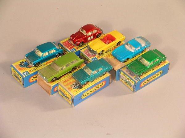 1B: A group of seven Matchbox Superfast miniature model