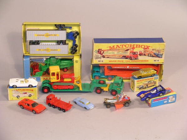 11B: A group of Matchbox vehicles to include a boxed Ma