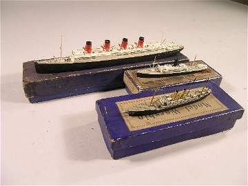 196B: A group of three models, the SS Aquatania, the SS