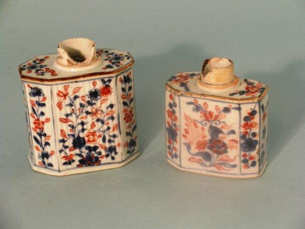 4B: Two Chinese imari porcelain tea caddies, Qianlong (