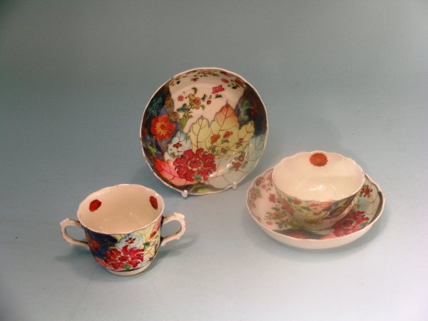 6B: A Chinese famille rose tobacco leaf two handled cup