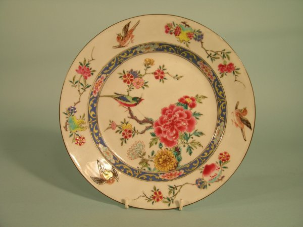 14B: A pair of Chinese famille rose plates, Qianlong (1