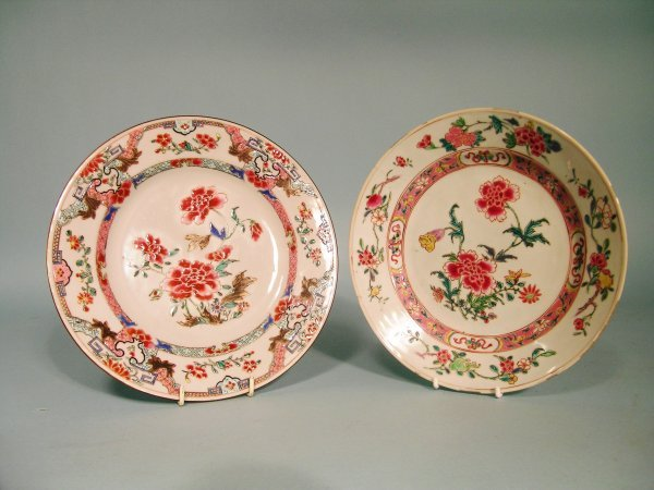 15B: Two Chinese famille rose plates, Qianlong (1736-95