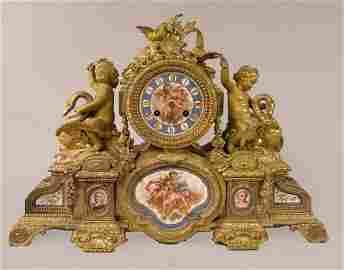 125B: A Louis XVI style ormolu mantel clock, circa 1855
