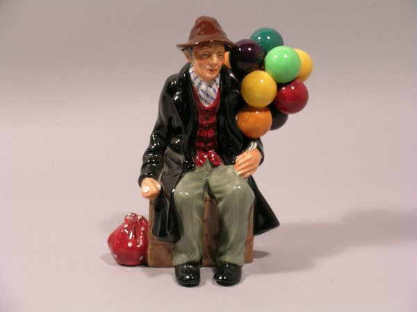2D: A Royal Doulton figure The Balloon Man HN1954, desi