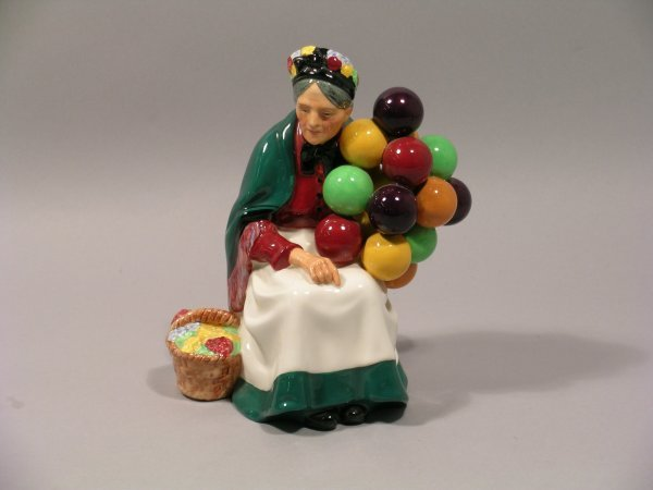 3D: A Royal Doulton figure The Old Balloon Seller HN131