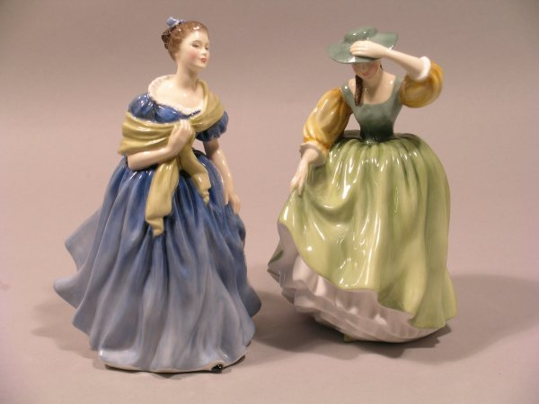 5D: Two Royal Doulton figures; Adrienne HN2304 designed