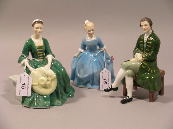 15D: Three Royal Doulton figures from the Figures of Wi