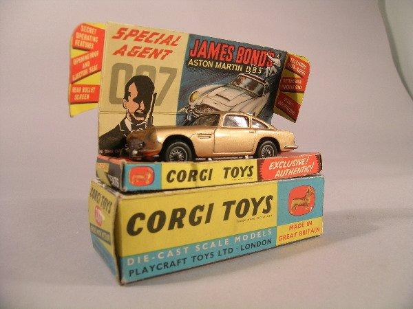 3B: A Corgi Toys first issue James Bond Aston Martin DB