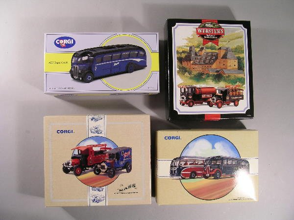 7B: A quantity of seventeen modern Corgi busses and com