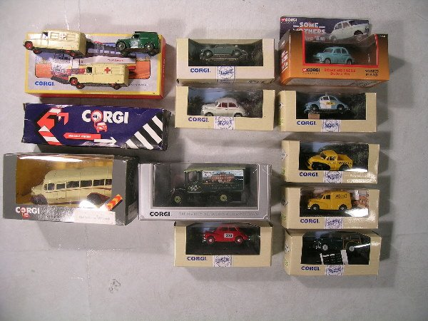 18B: A mixed group of Corgi vehicles to include eight M