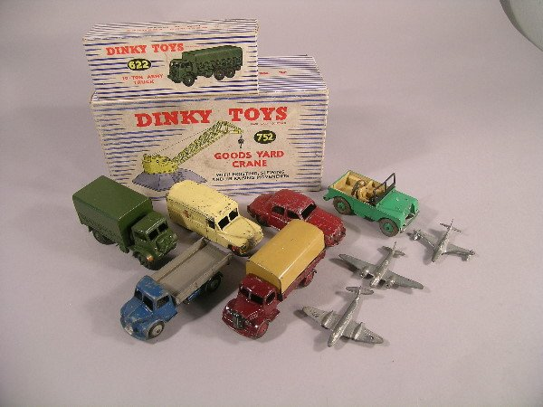 20B: A small collection of Dinky toys dating from 1950s