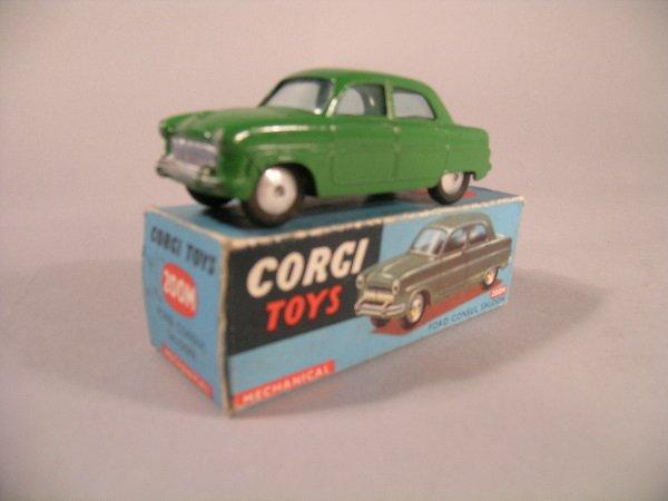 21B: A Corgi toys No. 200N Ford consul saloon in mid gr