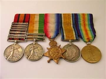 101: A Boer War and World War I group of medals compris