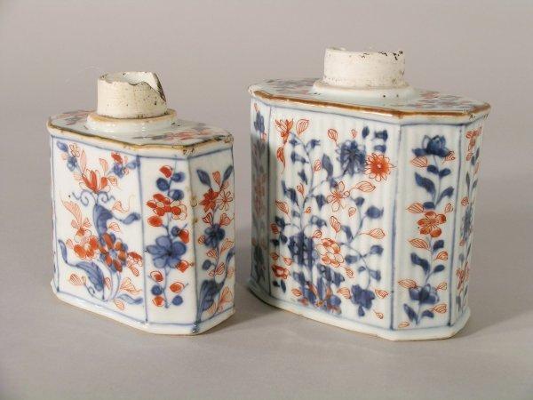 3D: Two Chinese imari porcelain tea caddies, Qianlong (
