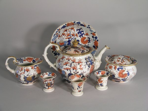 13D: A selection of ironstone breakfast wares, early 19