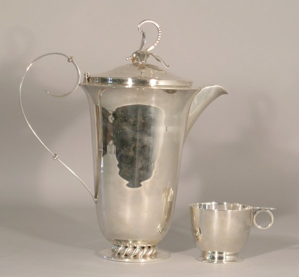 5B: A Continental jug and cover of apparent Danish insp