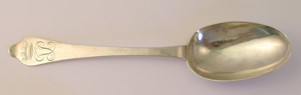 19B: A George I Dog Nose table spoon, George Cox, dated