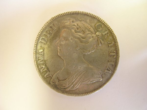 229B: A Queen Anne half crown (after union), 'septimo'