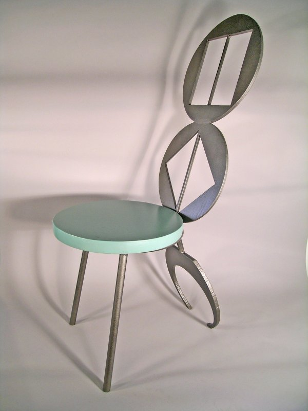 14C: Iron Vein, 'Scorpion Chair', reclaimed steel and c