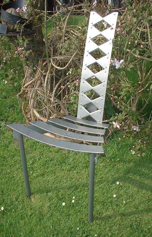 16C: Iron Vein, 'Dragon Tooth Chair' reclaimed steel, g