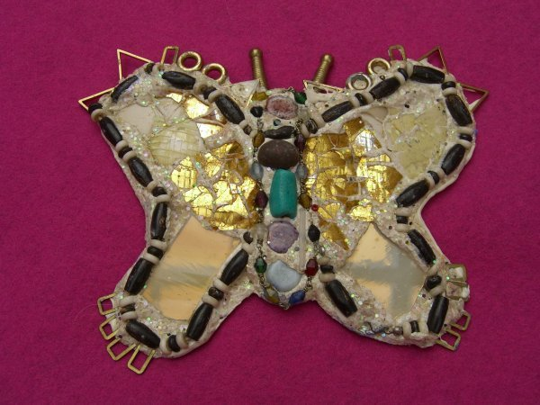 24C: Andrew Logan, 'Bionic Butterfly', brooch, mirror a