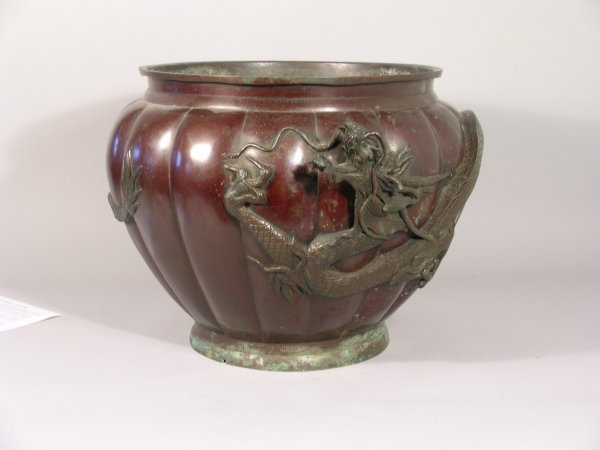 10D: A Japanese lacquered bronze lobed jardiniere, earl