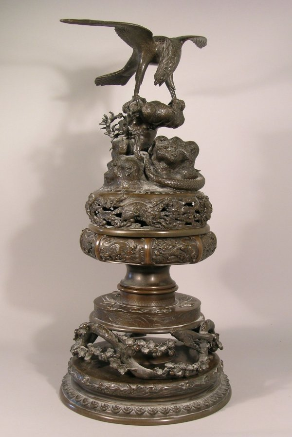 11D: A Japanese bronze koro, Meiji period (1868-1912),