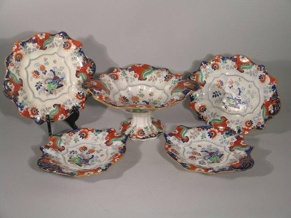 13D: An Ironstone China dessert service, 19th century,