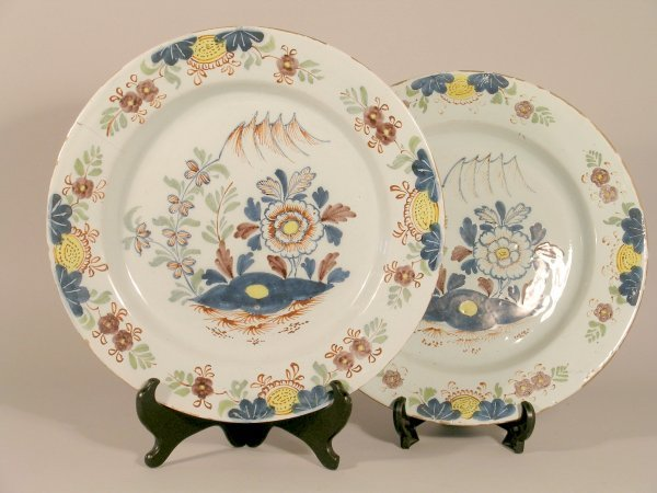 22D: A pair of English Delft chargers, 18th century, ea