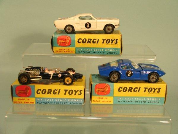 1E: Three boxed Corgi Toys models to include a Ford Mus
