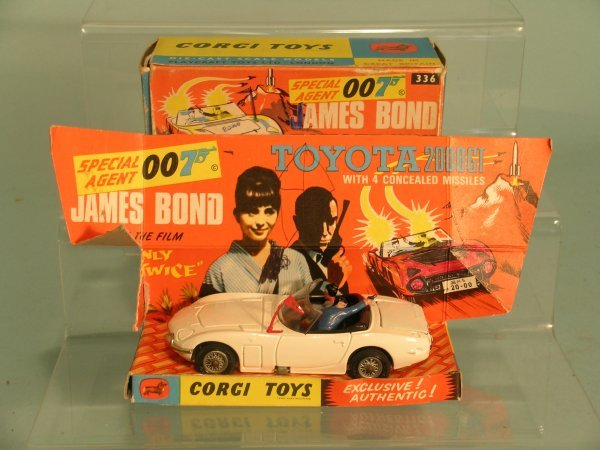 9E: A boxed Corgi no. 336 James Bond Toyota 2000 from t