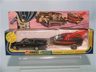 A Corgi Toys no. 3 gift set Batmobile and Bat Boat