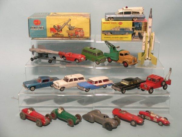 16E: A collection of twelve Corgi toys for spares or re