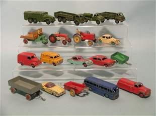 A group of mainly Dinky diecast toys from 1950s to