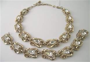 A Coro necklace and bracelet, circa 1950, designed