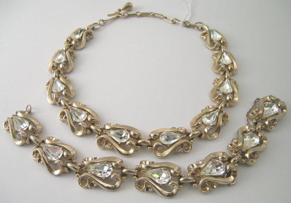 19B: A Coro necklace and bracelet, circa 1950, designed